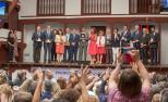 Fotografía da entrega dos premios en Almagro.