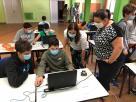 Mozos no Campamento Digitalia.