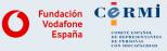 Logos Fundación Vodafone España e Cermi.